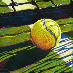 Sports Paintings - Tennis I by Jim Grady