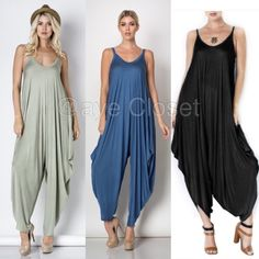 New Harem oversized jumpsuit jumper black or sage ❌PLEASE DON'T BUY THIS LISTING,COMMENT ON Color and SIZE NEEDED FOR SEPARATE LISTING❌ New Harem jumpsuit jumper romper oversized dress.  Flowy and very comfy. Lightweight and stretchy fabric.  Black, and Sage green are available. ⭐️SMALL, MEDIUM AND LARGE Boutique Dresses