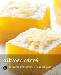 Delicious citroencarré voor high tea