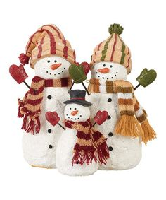 Love this Peace Snowman Family Figurine Set on #zulily! #zulilyfinds