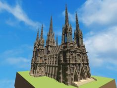 cathedral minecraft ideal gothic planetminecraft project diamonds