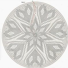Crochet Symbols, Crochet Doily Patterns, Crochet Mandala, Tapestry Crochet, Crochet Designs, Crochet Doilies, Crochet Stitches, Crochet Mat, Crochet Cushions