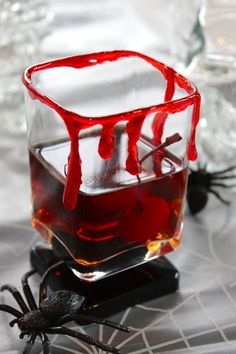 So brilliant: Bloody Manhattan from The Kitchn as a spooky Halloween cocktail recipe