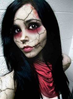 Broken doll makeup. I just like how it really looks like shattered porcelain