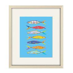 bathroom art nursery fish art children's art by OzscapeDesigns, $18.75