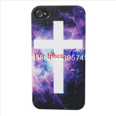 Galaxy universe Bling Nice Fashion Night Sky Cross Sign Hard Plastic Mobile Phone Case Cover For Iphone 4 4S 5 5S 5C 6 6 Plus