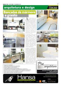 35° Publicação Jornal bom dia – Matéria - Bancadas de mármore e granito   27-04-12