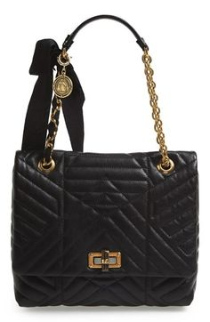 Lanvin 'Medium Happy' Quilted Leather Shoulder Bag available at #Nordstrom