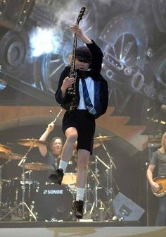 Angus, AC/DC in full flight on the Black Ice Tour