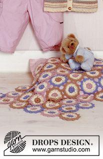 DROPS Baby 11-29 - Crochet DROPS Blanket in Safran - Free pattern by DROPS Design
