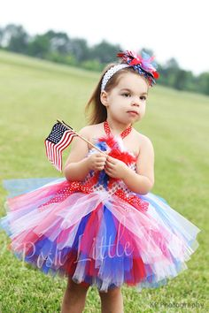"Independence Day Tutu Dress. (Follow my ""Holiday Decor: 4th of July"" board for more decorative ideas!) #4thofJuly"