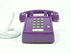 Vintage telephone plum purple push button phone