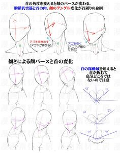 Head and neck position for dynamic poses Figure Drawing Reference, Anatomy Reference, Art Reference Poses, Drawing Heads, Drawing Base, Neck Drawing, Manga Drawing Tutorials, Drawing Techniques, Anatomy Drawing