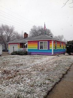 Westboro Hate Church Neighbor Paints Entire House As A Rainbow