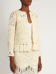 Tuva hand-macramé tassel-trim jacket | Tabula Rasa | MATCHESFASHION.COM UK