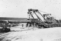 French 240 mm railway howitzer, World War I era.