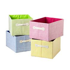 The Container Store > Large Gingham Storage Bin ~ For my laundry room.