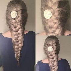 •Elsa braid• #elsabraid #winter #frozen #style #ash #ashblonde #braids #braidstyles #braidideas #hairstyles #inspiration #hairstylist #inspire #cute #longhair  #shirlbraids #girl #longhairdontcare