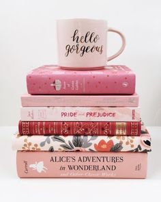 Hello, Gorgeous Pink Stack of Books . Stack Of Books, I Love Books, Good Books, Books To Read, My Books, Book Club Books, Dark Books, Tout Rose, Book Aesthetic