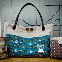 Diaper bag with wipes pouch and changing pad tutorial