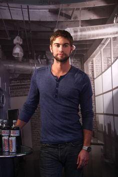 Chace Crawford promoting Diet Coke... Thirsty, anyone?
