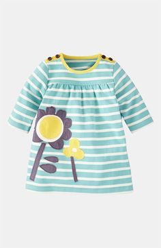 Mini Boden Appliqué Jersey Dress (Infant) | Nordstrom