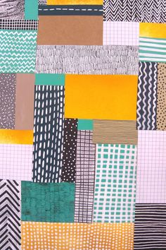Printed paper collage combining patterns and colour, 2013 | Abbey Withington, illustrator and printmaker based in Leeds