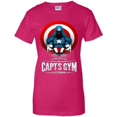 Capt's Gym T-Shirt 100% Cotton. Imported. Machine wash cold with like colors, dry low heat. Lightweight, Classic fit, Double-needle sleeve and bottom hem, Unisex sizing; consult size chart for details
