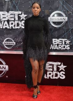 Kelly Rowland at the 2015 BET Awards. See all the best looks from the red carpet.