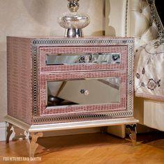 Angie's Pink Mirror-Drawer Nightstand