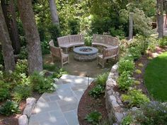 Love this fire pit area!!
