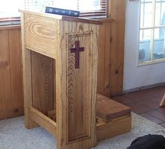 I like the inlayed cross and the angle of the top.