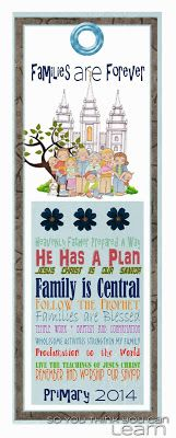 Families Are Forever - Primary 2014 - Printables!! by So You Think You Can Learn