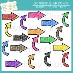 This free scribble arrows clip art set contains 18 scribble arrows. This set includes 16 color images and 2 black & white images in png. All images are 300dpi for better scaling and printing.You will receive:* 16 color png images* 2 black & white png imagesTerms of Use: The clip art may be used in educational commercial products.