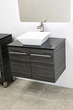 Special Offers - WindBay 30 wall mount floating bathroom vanity sink set. Vanities sink Dark Grey - In stock & Free Shipping. You can save more money! Check It (May 01 2016 at 09:52PM) >> http://bathstoreaccessories.net/windbay-30-wall-mount-floating-bathroom-vanity-sink-set-vanities-sink-dark-grey/