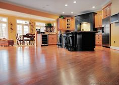 #Kitchen Idea of the Day: Two-Tone Kitchens with wood flooring.