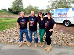 This morning the Boots ON! San Diego team was on KUSI News in San Diego!   Check out this photo of Benchmark Mortgage, San Diego's Andrew Paul, NY Myke from San Diego Harley-Davidson, KUSI News reporter Brandi Williams, and San Diego Boot Girl, Char Ekoniak of Coastal Rock Realty!   We are so excited for this event tomorrow! There is still time for you to get YOUR tickets and join us for this great party raising money for our TROOPS!  Visit http://bootsonsandiego for more information!