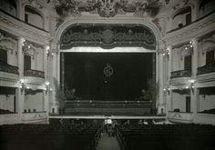 Escenario del teatro del Gran Kursaal hacia 1920