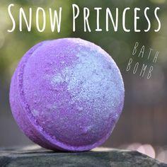 Snow Princess Bath Bomb by MeltAwayBathBombs on Etsy