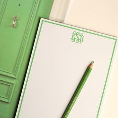 To do lists just got more fun. Letter Love Designs notepad, $19.