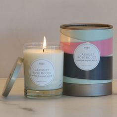 Kobo Cassis et Rose Douce candle