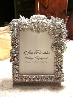 Perfect vintage jewelry frame for a bride!