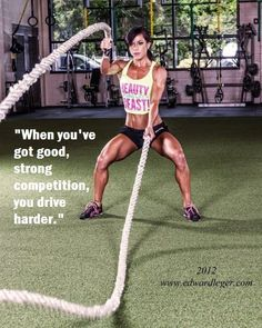 the ropes..... this is soooo hard.  my trainer makes me do them... i both love and hate it.  :)
