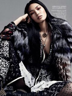 Chiharu Okunugi by Daniel Jackson for Vogue China October 2013 | The Fashionography