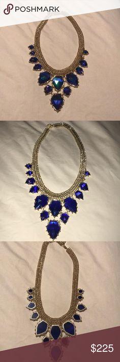 Gretchen statement necklace in Cobalt Iridescent Kendra Starstruck Winter Collection Kendra Scott Jewelry Necklaces
