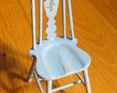 Dollhouse Chair  Miniature Furniture Handcrafted  Unique chair  Depression era12th scale