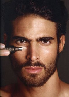 Model Juan Betancourt for Tom Ford Skincare Grooming campaign.