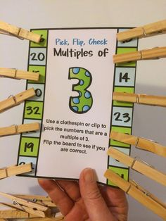 Multiples Pick the multiples, Flip and Check - 11 Self Correcting Cards! Kids love to pick, flip and check! Math Teacher, Math Classroom, Teaching Math, Teaching Ideas, Math Resources, Math Activities, Fifth Grade Math, Fourth Grade, Grade 3