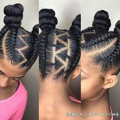 Stylish cornrow braids
