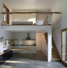 kleine wohnung einrichten mit hochbett_loft schlafzimmer gestalten über küche